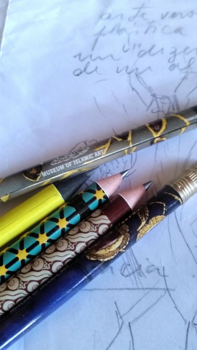 os lápis do museu lindosss