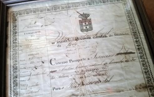 pedaço de passaporte