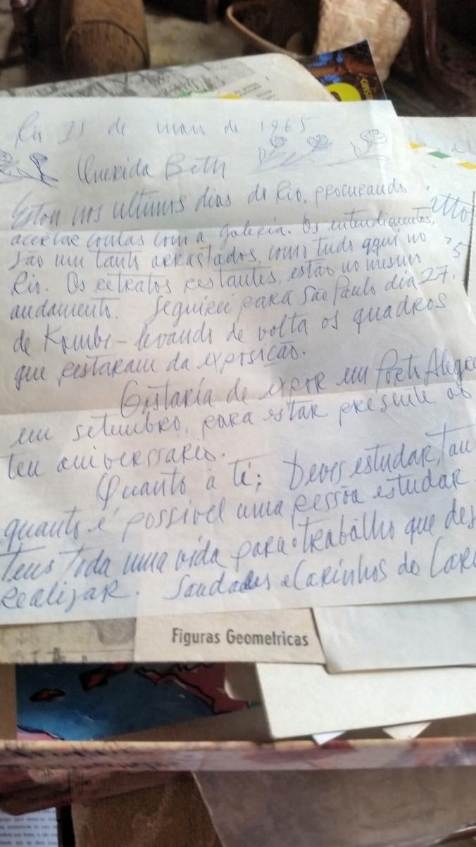 carta com rosas
