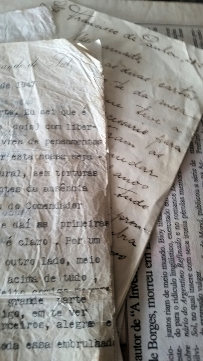 cartas do pai espalhadas na minha vida