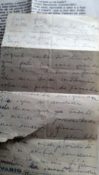 carta manuscrita bilhete da mãe