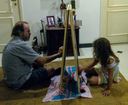Claudio e Valentina pintando 2019