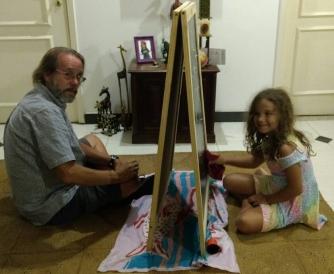 Claudio e Valentina pintando foto linda