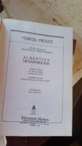 Proust ALBERTINA DESAPARECIDA contra capa