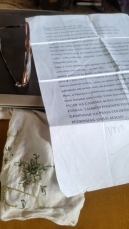 carta para o ão encontrada lenço