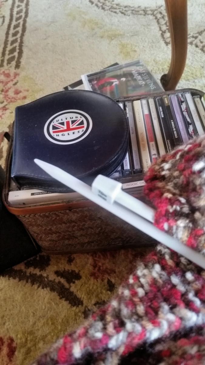 nas arrumações cds e trico