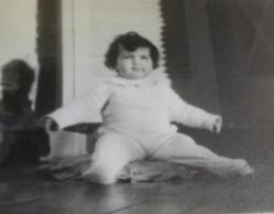 minha foto de bebê no alpendre
