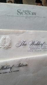 papel de cata Waldorf Astoria