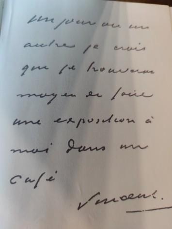 letra de Van Gogh bilhete