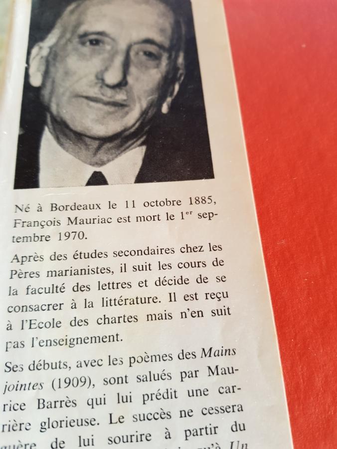 Orelha do livro Mauriac com foto