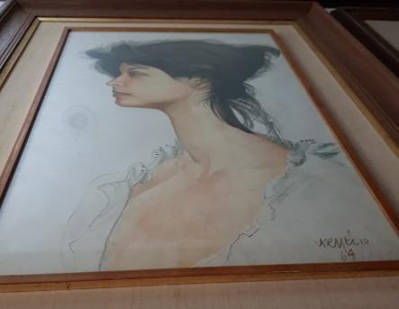 aquarela de Carmélio quadro visto de baixo eu 64
