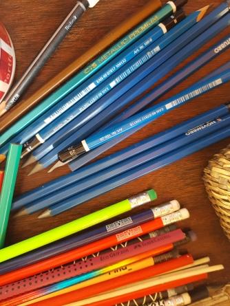 muitos lápis ótima